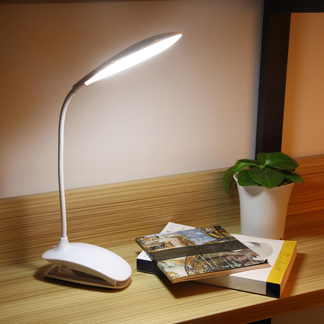 2017 new arrival book light led table lamp usb dc power 1 5w led clip table