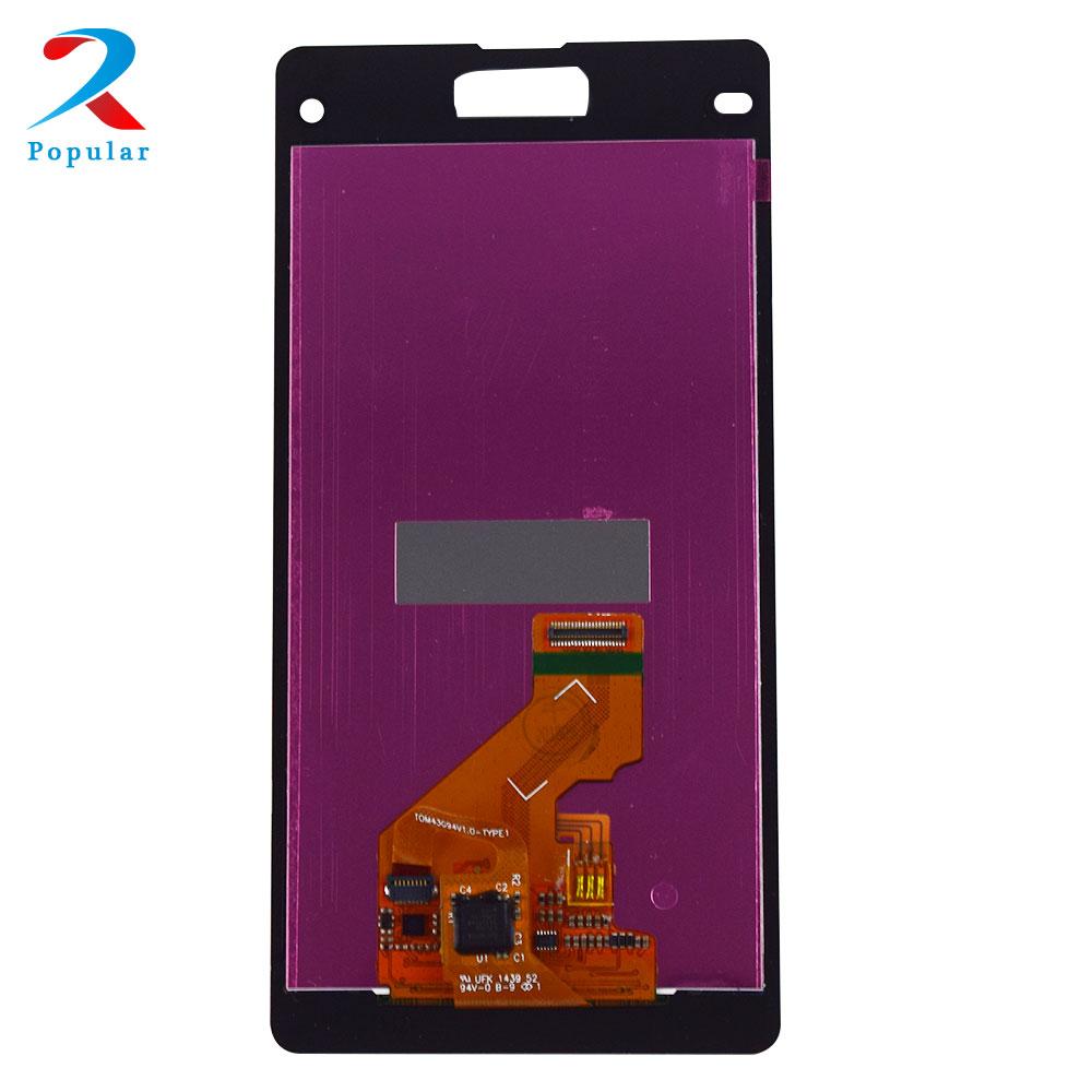 Pour Sony Xperia Z1 Mini Compact D5503 M51W Convertisseur Analogique-Numérique De Panneau D'écran Tactile de Capteur En Verre + Moniteur D'affichage À CRISTAUX LIQUIDES De Panneau