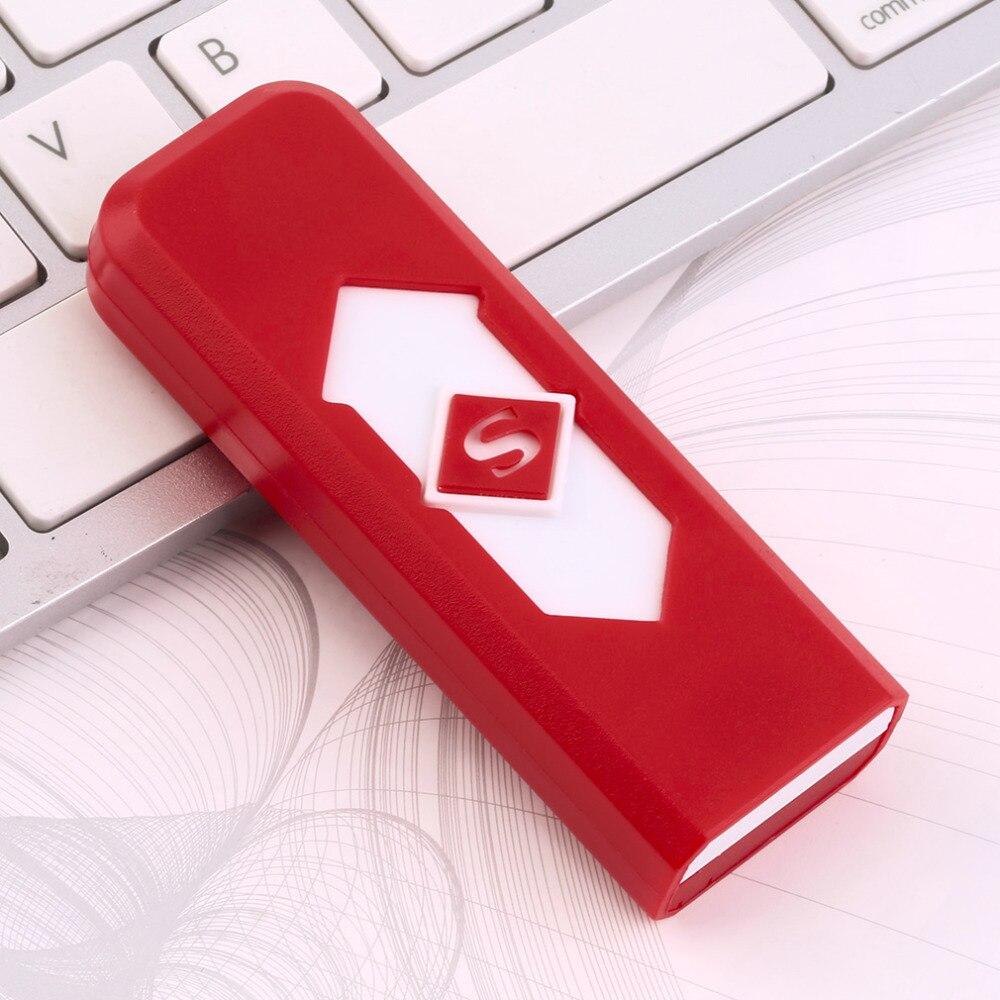 8 Colors Portable Electronic No Gas font b USB b font Rechargeable Lighter Flameless Superman Cigarette