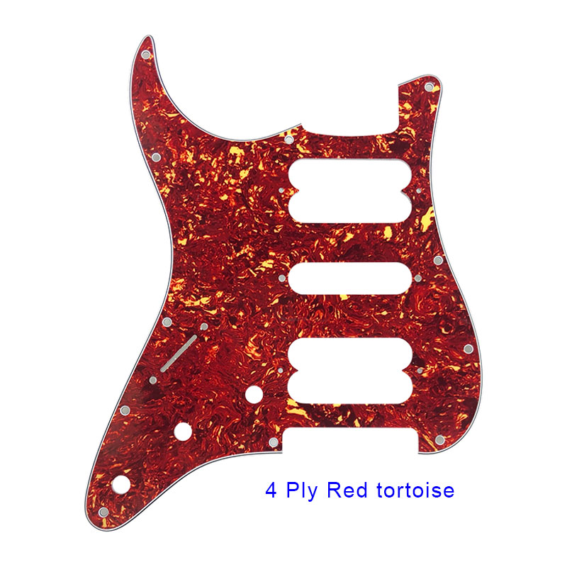 4 ply red tortoise st hsh pickguard