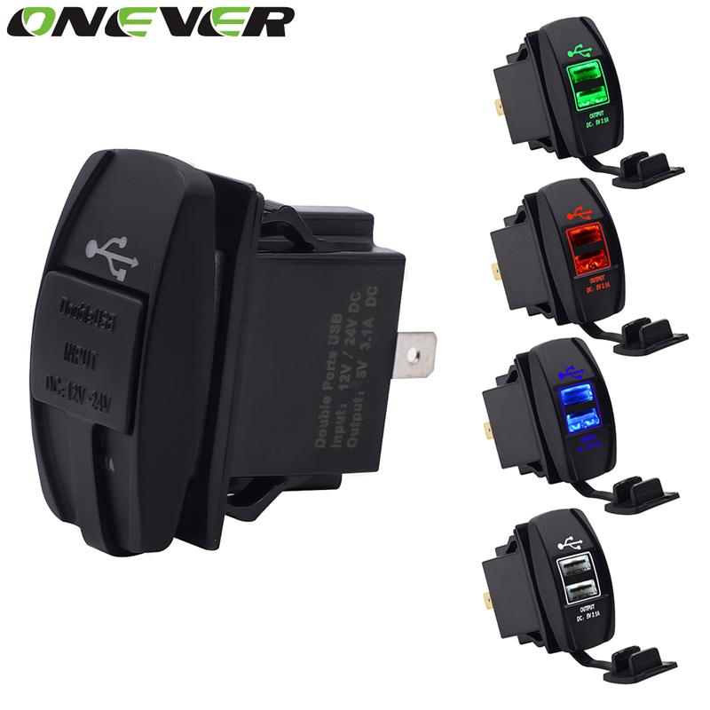 onever dual usb car charger power adapter 5v 3 1a dual usb socket charger for iphone 5 6 6s ipad. Black Bedroom Furniture Sets. Home Design Ideas