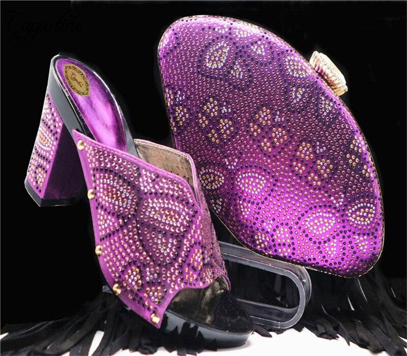 Cuadrados Y Africano púrpura Mujer Blue fuchsia Fiesta Verano oro Tacones Estilo Último 2018 G58 Fucsia Color Royal Bolsa plata De Italiano Para Zapatos 1F8OqFPw