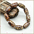 Yumten 15mm Dzi Bracelet Nouveaut 2017 Bracelet Femme Tibetan Agate Dzi Bracelets For Women Men Classic lucky Mantra Prayer