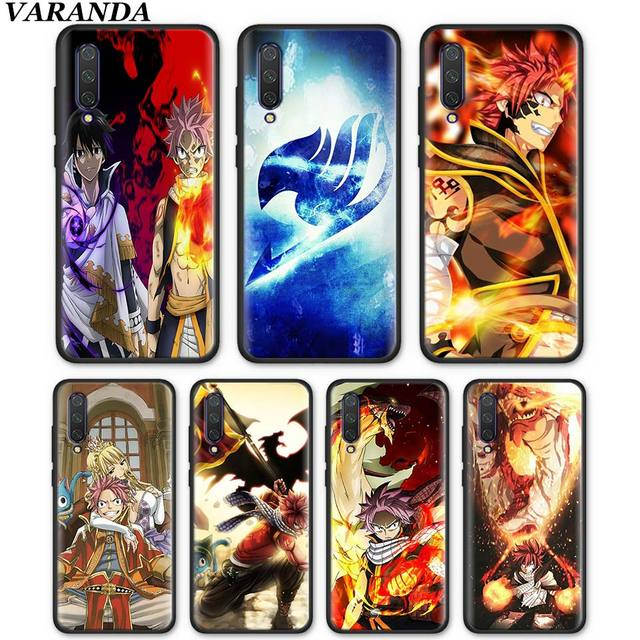 Fairy Tail Natsu Logo Case for Xiaomi Mi 9T CC9 CC9E A1 A2 Lite 5X 6X Poco F1 Black