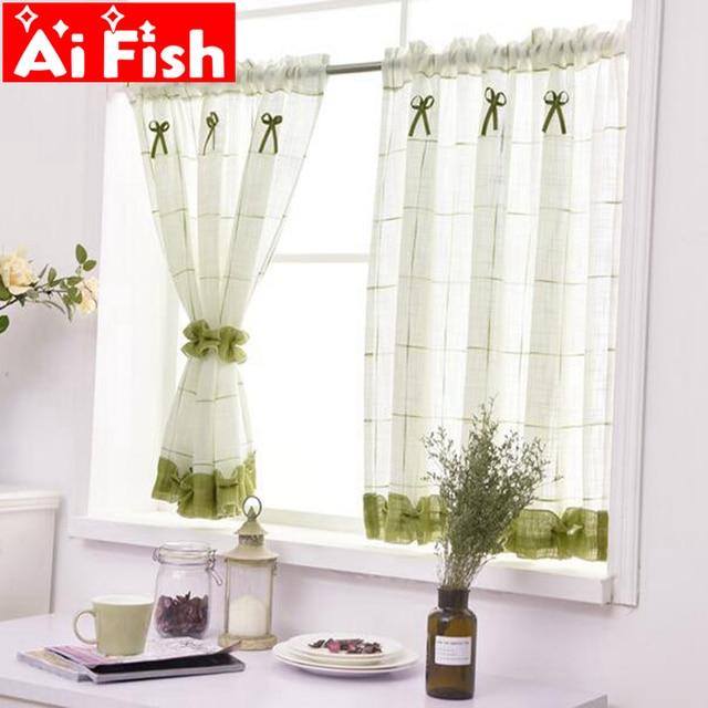romantic sweet lace home garden screens half coffee curtain kitchen rh aliexpress com