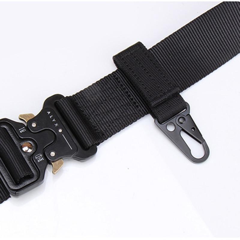 2019 Men's Belt Eagle Hook 50kg Outdoor Camping Tactical Military Nylon Carabiner Key Chain Multi-Function Belts Keyring