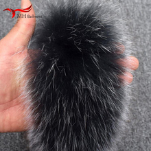 Цветная меховая шапка, зимняя Новинка, Воротник из натурального Лисьего меха для мужчин и женщин, логистическое пальто, пальто, меховой воротник 70*10 см, воротник может быть настроен