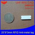 UHF RFID Анти металлическая метка 915 МГц 868 МГц Alien Higgs3 EPCC1G2 6C переноска 25*9*3 мм прямоугольная керамика смарт-карта Пассивная RFID бирка