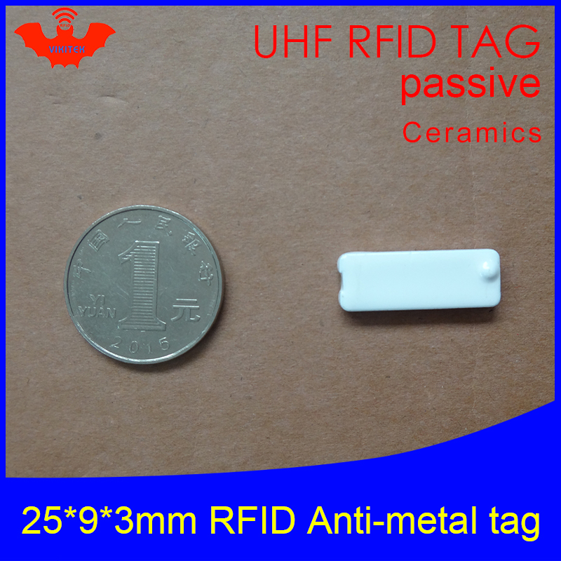 UHF RFID Anti Metal Tag 915mhz 868mhz Alien Higgs3 EPCC1G2 6C Carrier 25*9*3mm Rectangle Ceramics Smart Card Passive RFID Tags
