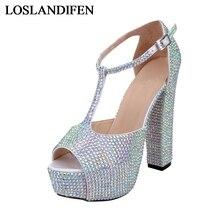 Women Sliver Gold Green Color Crystal Square High Heel Peep Toe Sandals Cut-outs Bling Bling Rhinestone Wedding Shoes NLK-A0149 недорго, оригинальная цена