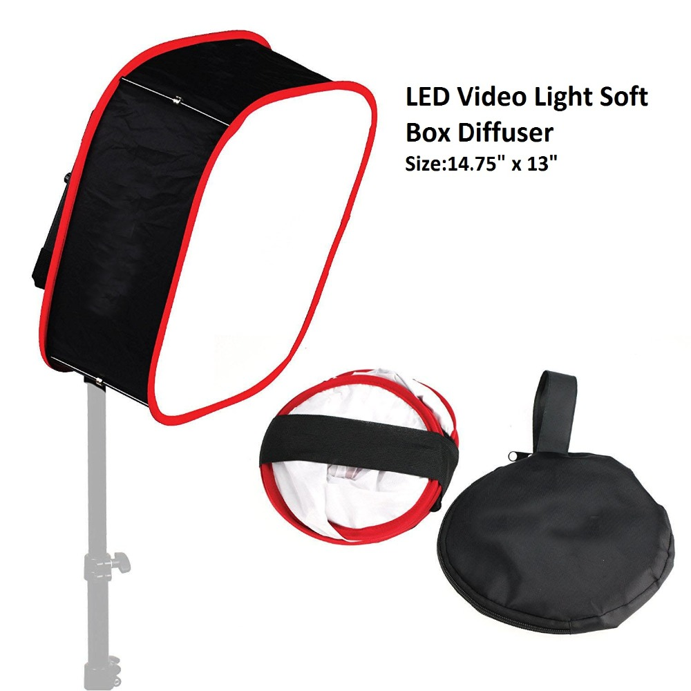 Lightdow LED Video Light Use Flash Softbox Diffuser Collapsible Portable Photography Acc ...