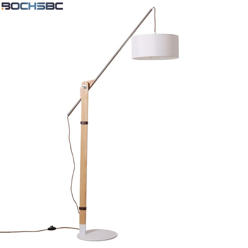 Bochsbc Adjustable Fishing Design Fabric Lampshade Floor Lamps