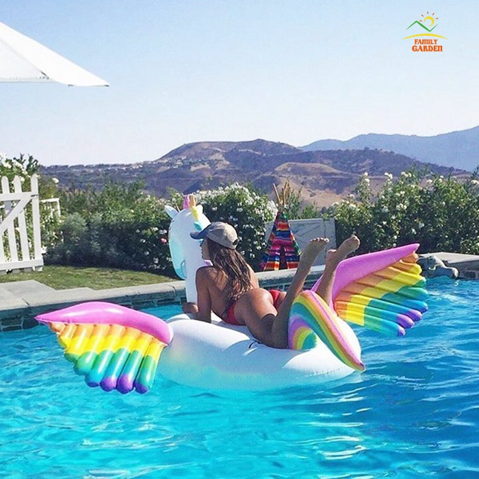 Rainbow Pegasus Unicorn Giant Pool Float