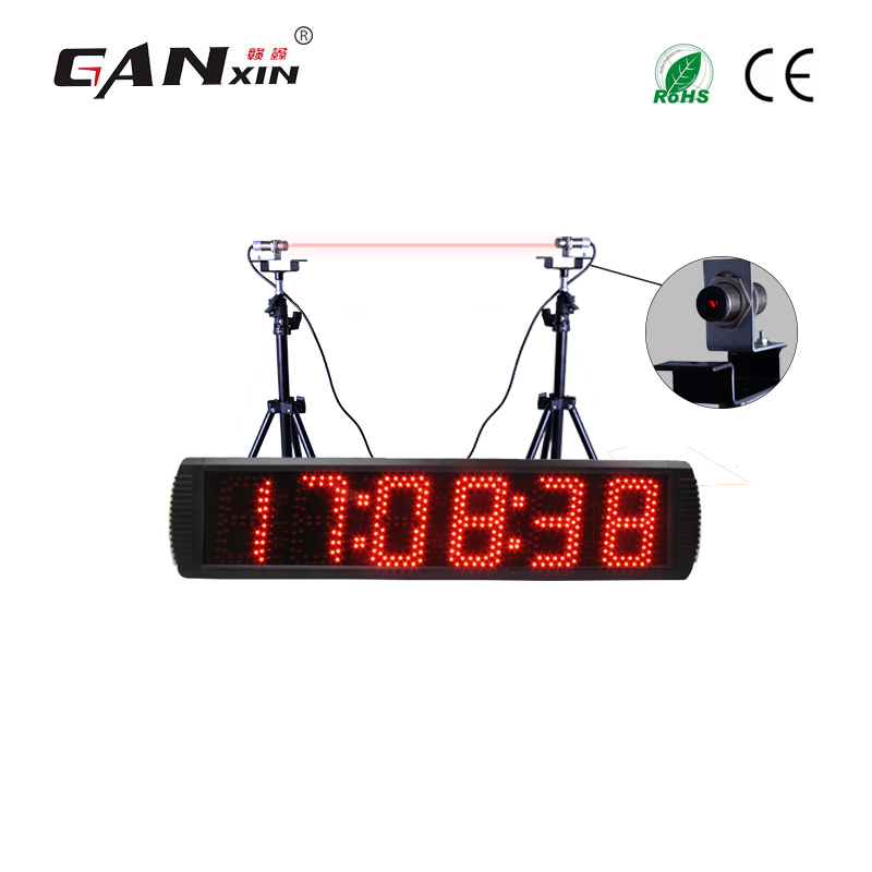 重复6 Digits Led Racing Timer Track / Lap Timer Wall Clock With Laser Induction