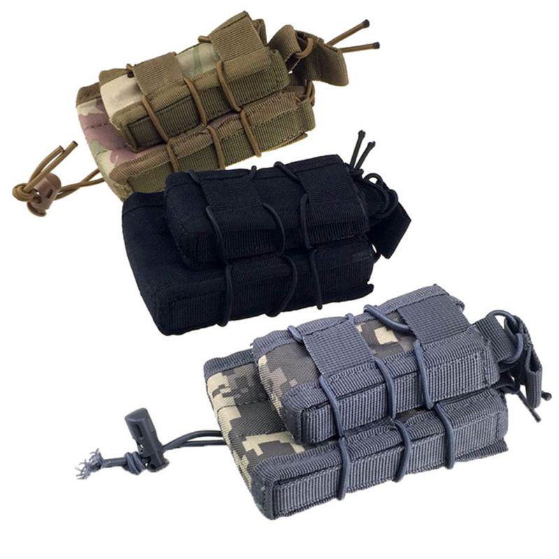 Outdoor Hunting Military Tactical MOLLE Triple Nylon Magazine Bag Paintball Equipment Pouch