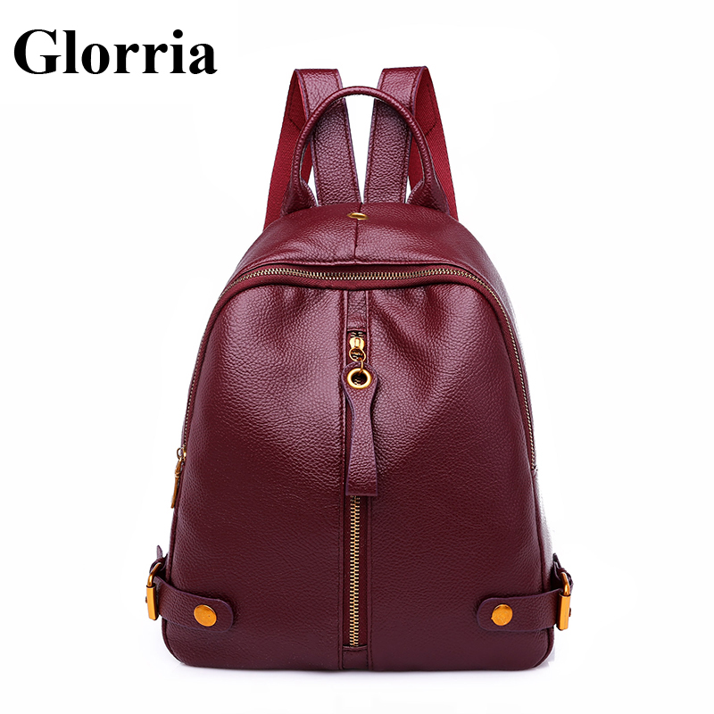 36065582fd14 Glorria роскошный рюкзак для женщин сумки дизайнер известный девушка  подростка кожа Bagpack кисточкой молния повседневное сумка