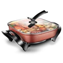5L 1450W wielofunkcyjny elektryczny Hotpot kuchenka powłoka non-stick patelni kontroli temperatury smażenia gorący garnek multicooker