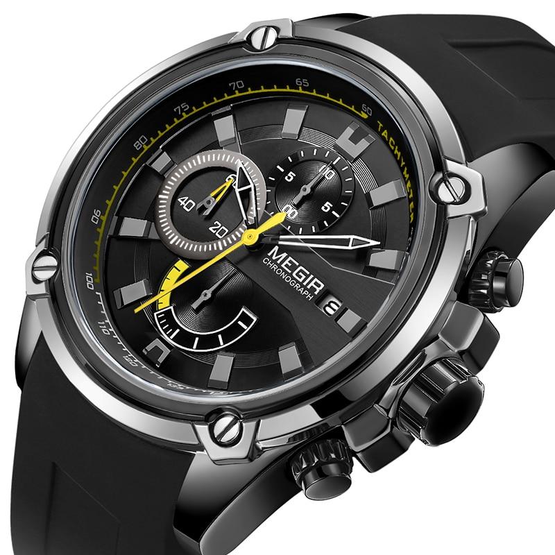 MEGIR Quartz Watch Men Sports Date Clock Mens Watches Top Brand Luxury Waterproof Business Watches Relogio Masculino in Quartz Watches from Watches