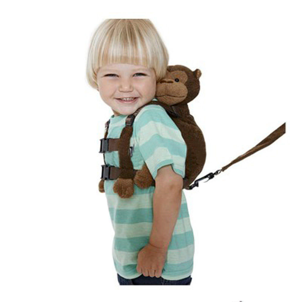 Monkey 2-in-1 Baby Kids Toddler Walking Safety Harness Plush Backpack Bag Strap Harness Leash Toy Child Adjustable Anti-lost