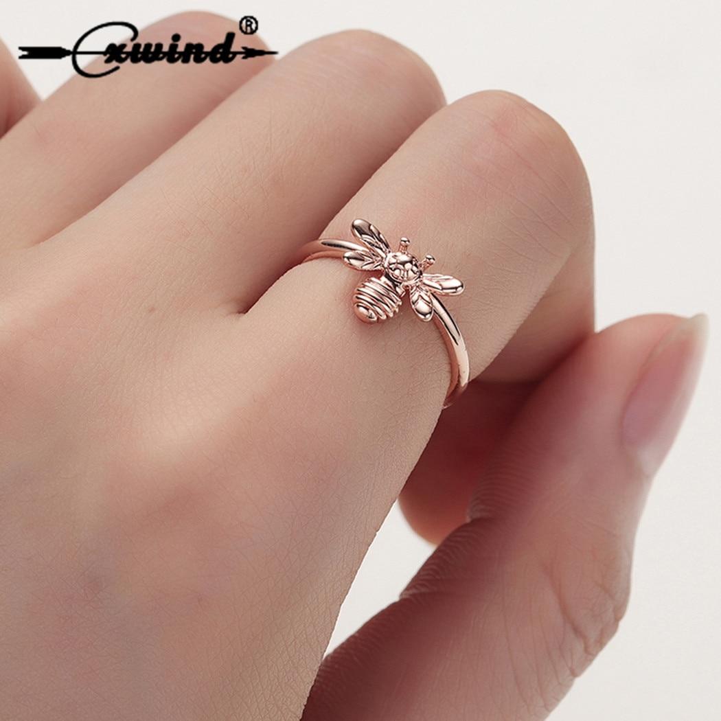 Женское кольцо в форме пчелы Cxwind, обручальное кольцо в форме Милого Животного, бижутерия для свадебной вечеринки