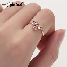 Cxwind adorável animal abelha forma anéis para mulher menina envoltório anel festa de casamento moda jóias bague femme