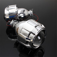 2 5Inch RHD Car Motor Mini Bi Xenon HID Projector Lens Angle Eye Halo Lens Kit