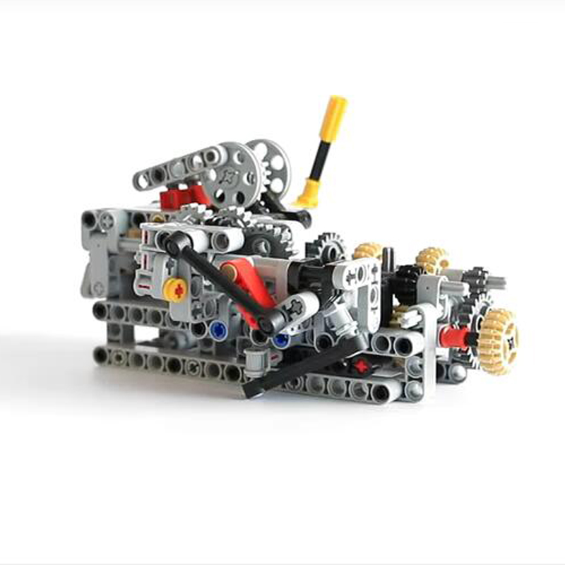 1 Set MOC - TECHNIC 8 SPEED SEQUENTIAL GEARBOX Educational Building Blocks Bricks Parts DIY Toys Compatible with 4911 Technic1 Set MOC - TECHNIC 8 SPEED SEQUENTIAL GEARBOX Educational Building Blocks Bricks Parts DIY Toys Compatible with 4911 Technic