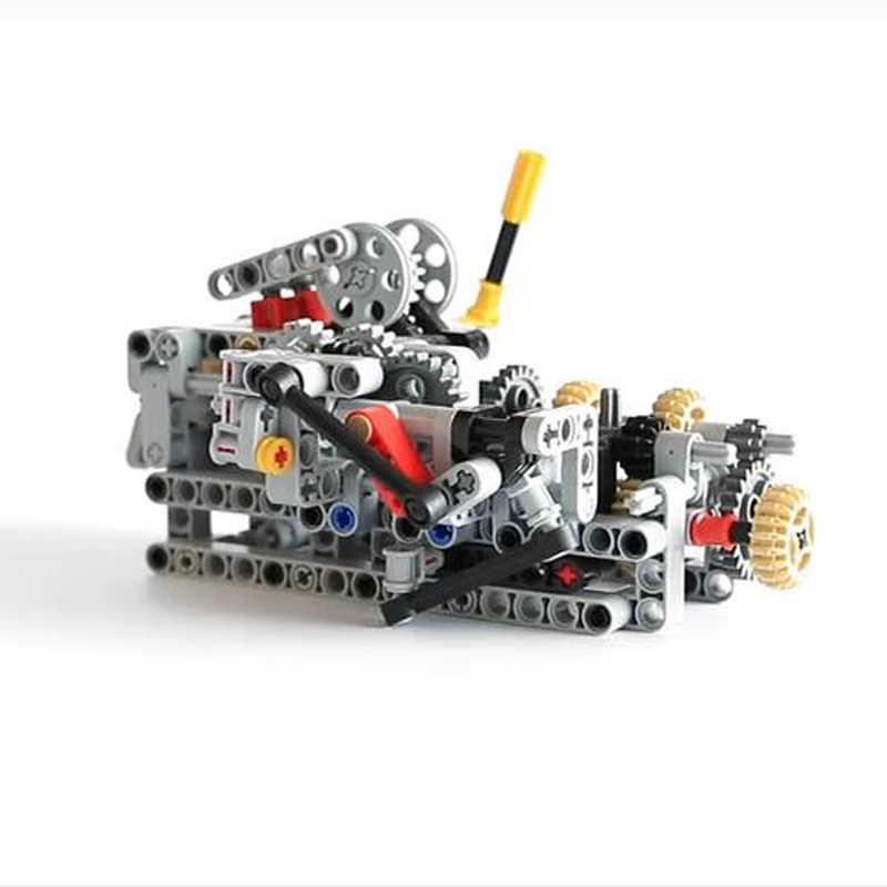 1 Set Moc-Technic 8 Speed Sequentiële Versnellingsbak Educatief Bouwstenen Bakstenen Delen Diy Speelgoed Compatibel Met 4911 Technic