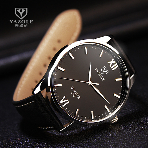 Lujo famoso reloj de pulsera hombre 2017 Top marca YAZOLE reloj hombres reloj cuarzo Hodinky Relogio Masculino Meska reloj