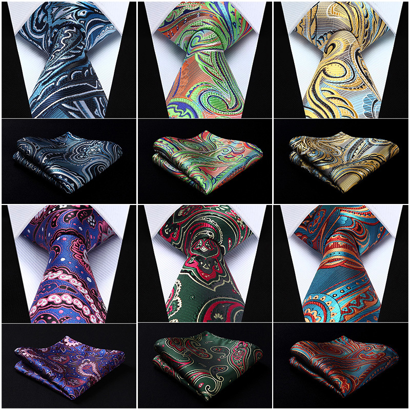 Pocket Square Classic Party Wedding Paisley Floral 3.4
