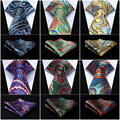 "Pocket Square Classic Party Wedding Paisley Floral 3.4""Silk Woven Wedding Men Pocket Tie Necktie Handkerchief Set#P8"