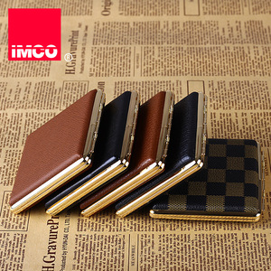 Image 2 - IMCO Original Cigarette Case Cigar Box Genuine Leather Tobacco Holder Pocket Storage Container Smoking Cigarette Accessories