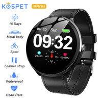 KOSPET V12 IP67 Waterproof Health Sleep Sports Heart Rate Bluetooth Smartwatch 1.3 180mAh Smart watch Men Women For IOS Android