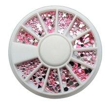 3D Nail Art Decoration (2mm-4mm/Triangle Heart Star) Gliter Rhinestone Stud Crystal Wheel Diy Accessories