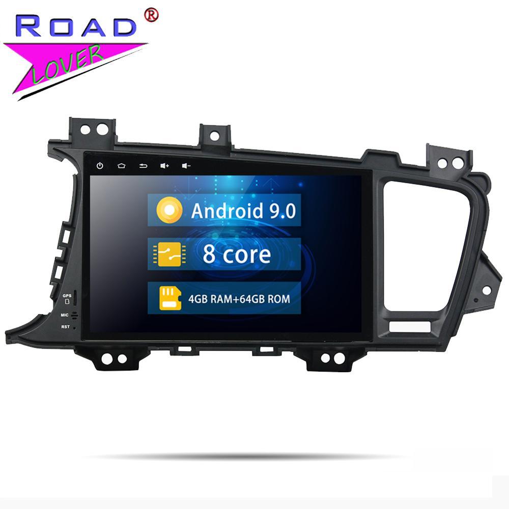 K5 Roadlover Android Leitor Multimédia 9.0 Carro Para KIA Optima 2014 Stereo Navegação GPS Automagnitol 2 Din Núcleo octa MP3 NÃO DVD