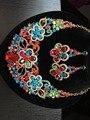 2016 Nueva Moda de nigeria Perlas Africanas de la boda Joyería Fija el Collar Del Cristal Conjunto Dubai Sistemas de La Joyería Del Banquete de Boda CW-7