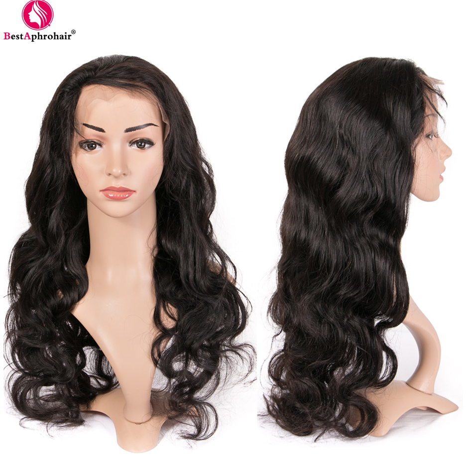 Brazilian Body Wave 360 Lace Frontal Wig Pre Plucked With Baby Hair Glueless Lace Front Human Hair Wigs 150% Density Remy Wigs