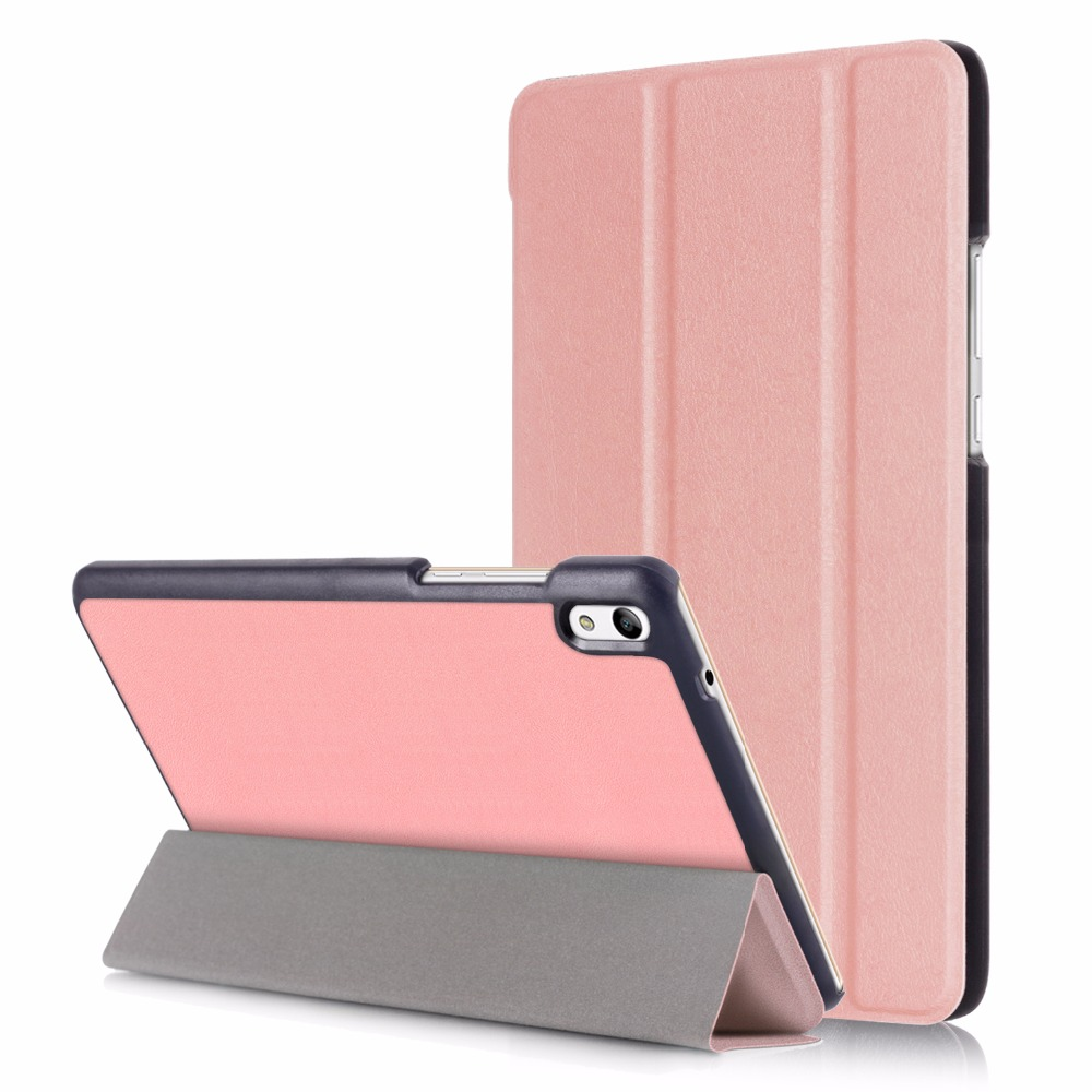 For Huawei Mediapad T2 8.0 Magnet Stand Pu Leather Case Cover For Huawei Honor Tablet 2 JDN-W09 AL00 8.0 Cases +Screen Protector