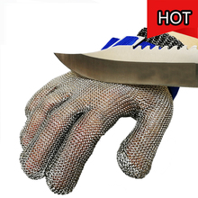 Anti Geschnitten Handschuhe Sicherheit Handschuhe Lebensmittel Grade Hand Schutz Arbeit Handschuhe Fleisch Butcher Cut Widerstand Draht Mesh Butcher