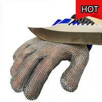 Guanti anti-Taglio Guanti Da Lavoro di Protezione Guanti di Sicurezza di Grado Alimentare A Mano a base di Carne Macellaio Resistenza Al Taglio Rete Metallica Butcher
