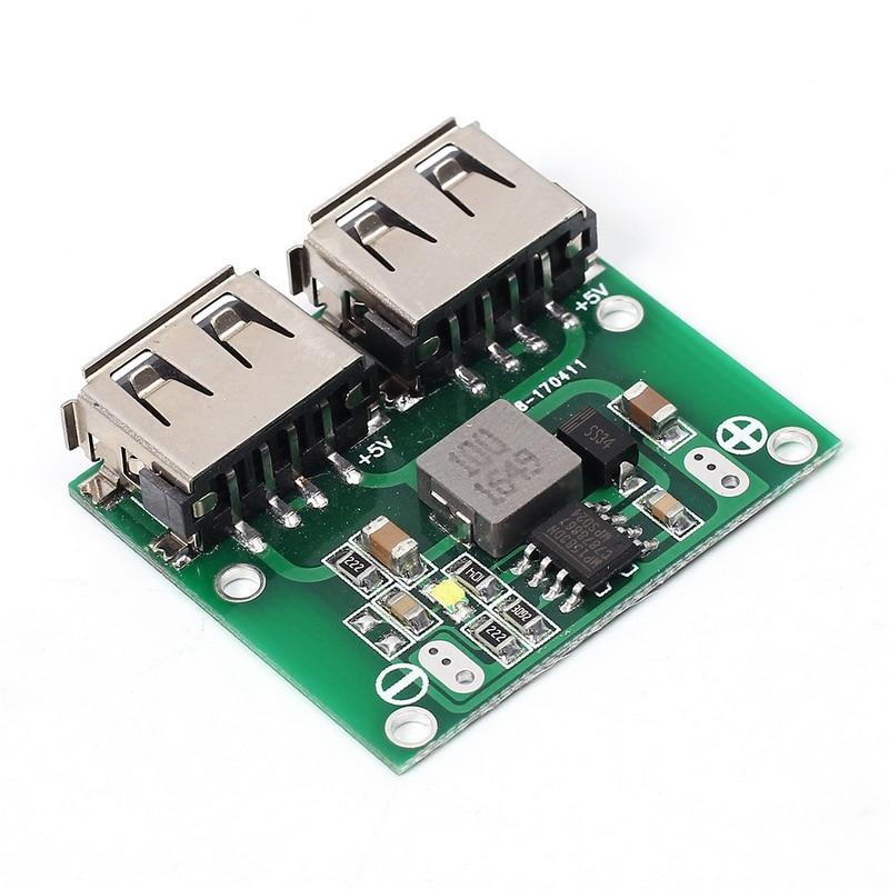 9 В 12 В 24 В до 5 В DC-DC Шаг Подпушка Зарядное устройство Мощность модуль Dual USB Выход бак Напряжение доска 3A автомобиля обязанности зарядки Регул…