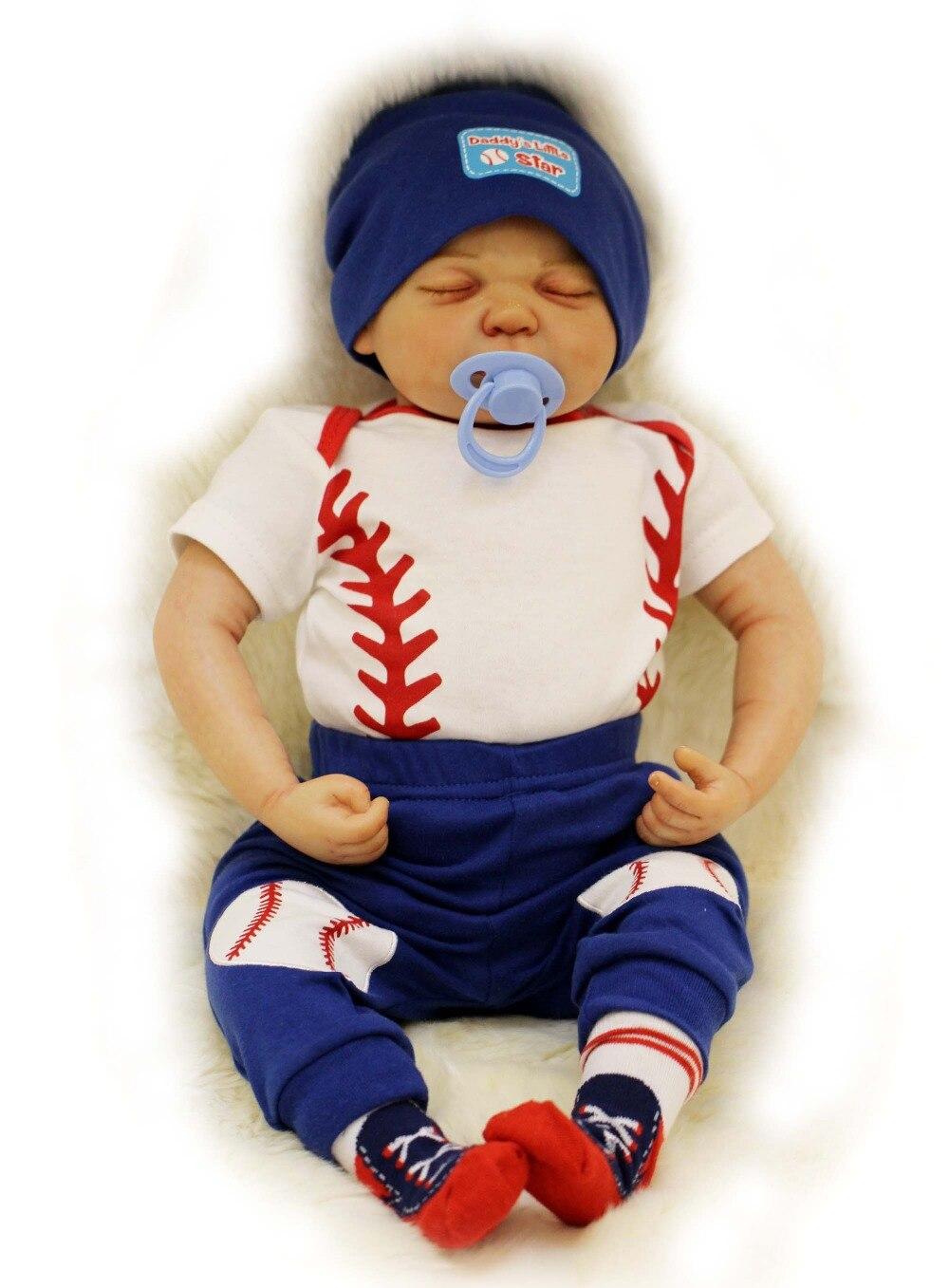 20 настоящий ребенок Reborn 100% ручной работы силиконовая кукла реборн младенцев Для мальчиков и девочек куклы с детская одежда Bebe подарок Boneca