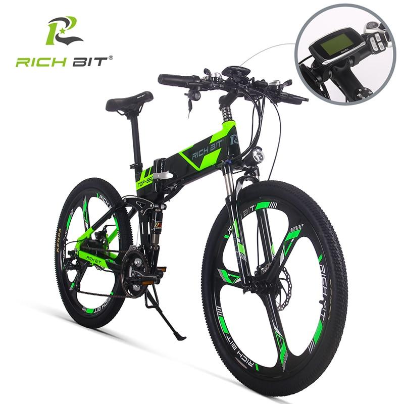 Richbit RT-860 bici Elettrica Della Bicicletta Mountain Bicicletta Elettrica 36 V * 250 W Batteria Al Litio EBike 12.8Ah All'interno Li-su Batteria ebike