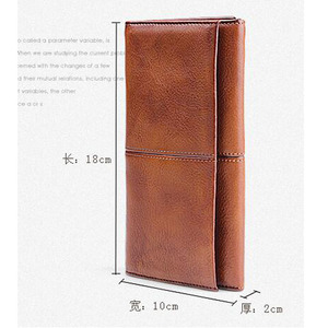 Image 5 - AETOO Mens handmade leather long wallet retro first layer of leather zipper men and women handbag couple vintage bag