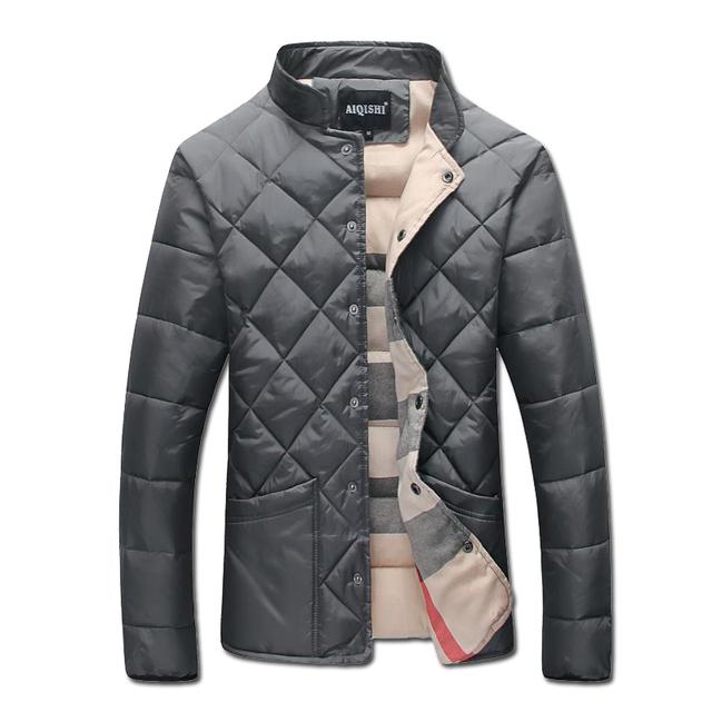 2017 Homens Jaquetas Casacos de Inverno Cor Sólida de Algodão Acolchoado Jaqueta Masculina Jaquetas Casuais dos homens de Moda Slim Fit Veste Homme homens
