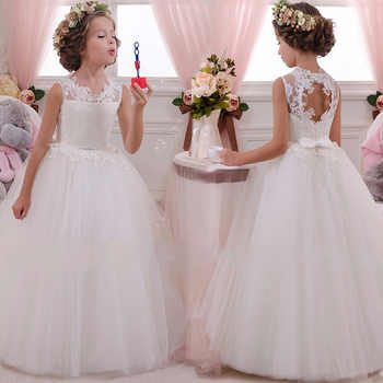 2019 Vestidos Girl Party Dress White Bridesmaid Princess Dress Kids Dresses For Girls Clothes Children Wedding Dress 10 12 Years - DISCOUNT ITEM  30% OFF All Category