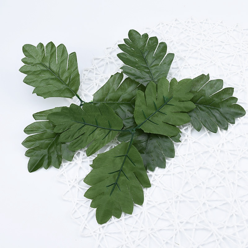 Artificial Plants For Christmas Home Decor Cheap Silk Strawberry Leaves Scrapbooking Diy Bridal Accessories Clearance Fake Leaf