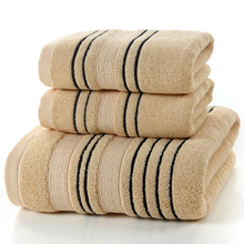 Simple Brown Cotton Absorbent Face Bath Towel Solid Color Jacquard Sheared Thick Towels 140x70cm Home Hotel Bathroom