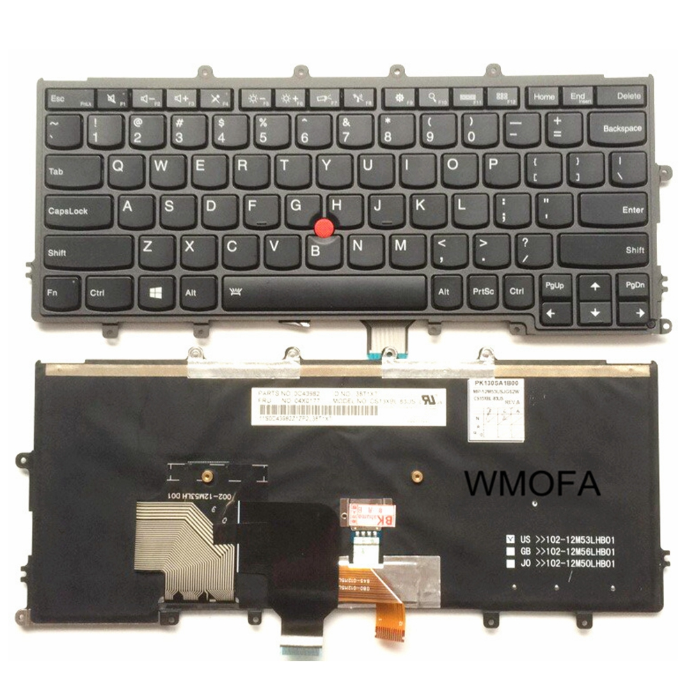 US Black Backlight New English laptop keyboard For Lenovo For IBM x240 x240s x240i x230s X230 X250 X260S With pointing sticks laptop keyboard for asus q503 q503u q503ua black without frame with backlight us 0kn0 sr3us13 0knb0 662nus00