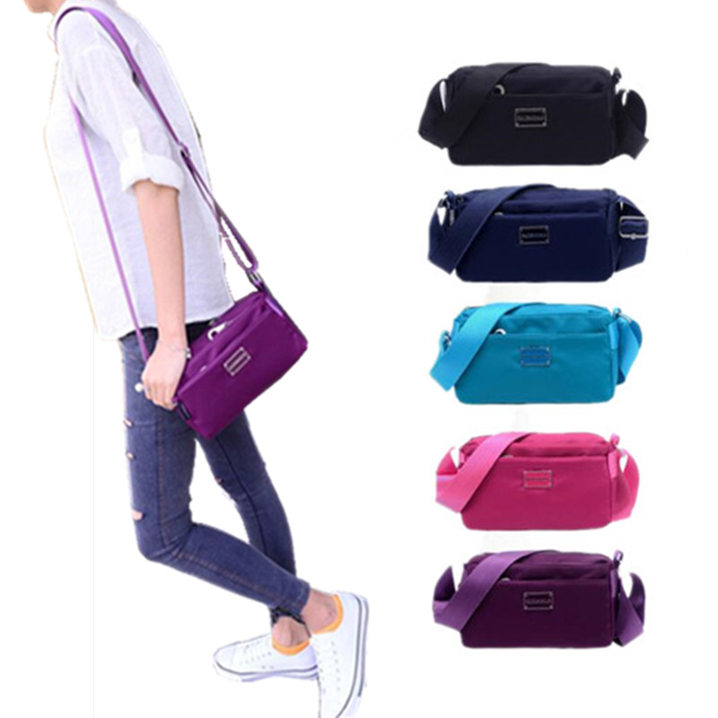 Waterproof Nylon Women Messenger Bags Small Purse Shoulder Bag Female Crossbody Bags Handbags High Quality Bolsa Tote women messenger bags waterproof nylon crossbody bags for women shoulder bags travel handbags sac bolsa purse female handbags